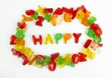 分类糖果五颜六色的信函 库存图片