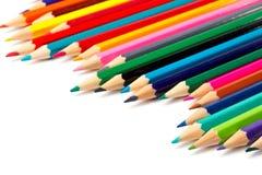 分类色的铅笔 免版税图库摄影
