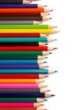 分类色的铅笔 库存图片