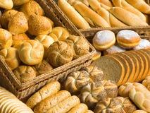 分类面包制品 免版税库存图片