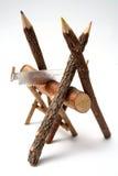 分行上色高兴的做的铅笔看见了三结&# 免版税库存照片