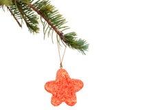 分行停止红色星形结构树的圣诞节曲&# 库存图片
