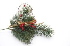 分行圣诞节冷杉珠宝结构树 库存照片