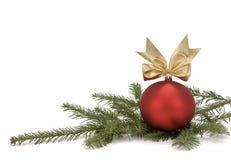 分行圣诞节装饰结构树 免版税库存图片