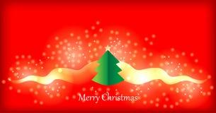 分行看板卡圣诞节祝贺的毛皮戏弄结构树 免版税图库摄影