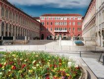 分裂克罗地亚威尼斯式广场 库存图片