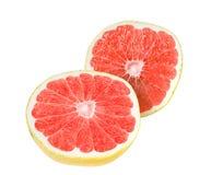 分裂半,被隔绝的成熟,有机葡萄柚。 库存照片