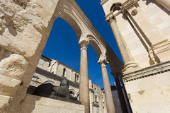 分裂历史的城市, Diocletian宫殿,分裂 免版税图库摄影