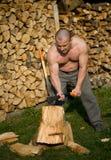 分裂的木头 免版税库存图片