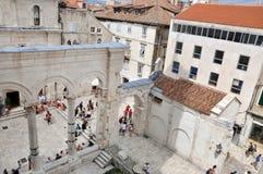 分裂的Diocletian的宫殿,克罗地亚 免版税库存照片