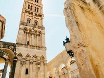 分裂老镇,克罗地亚 在城市里面 古老architectur 库存照片