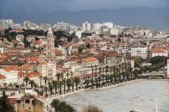 分裂,克罗地亚看法  免版税图库摄影