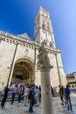 分裂,克罗地亚, 2017年10月01日:圣徒简单程序设计语言的Domnius大教堂 库存照片