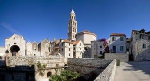 分裂,克罗地亚- Diocletian宫殿,东南看法 免版税库存照片