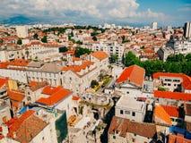 分裂,老镇,克罗地亚 从塔响铃塔的看法到 库存图片