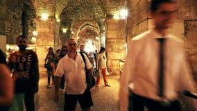 分裂Diocletian宫殿地窖 股票视频