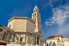 分裂Diocletian宫殿大教堂  免版税库存图片