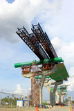 分装式桥梁的,曼谷,泰国发射的系统 免版税图库摄影