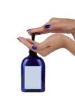 分配器现有量液体肥皂 库存图片