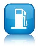 给分配器象特别深蓝蓝色方形的按钮加油 向量例证