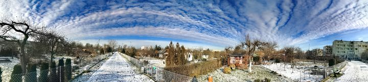分配地段在一个多雪的冬天 免版税图库摄影