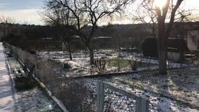 分配地段在多雪的冬天 影视素材