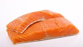 分配通配三文鱼的红大马哈鱼 免版税库存照片