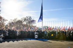 分钟在进贡的沈默对巴黎,委员会的受害者  库存图片