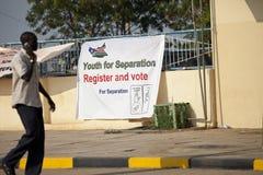 分隔南部的苏丹表决 免版税库存照片