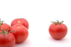 分隔的蕃茄 免版税库存图片