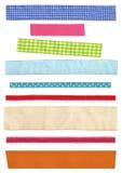 分类五颜六色的美丽的丝带 许多窄带fabri 图库摄影