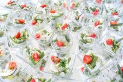 分类开胃菜和手抓食物 免版税图库摄影