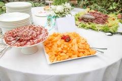 分类开胃菜和手抓食物 库存图片
