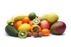 分类异乎寻常的果子 免版税图库摄影