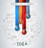 分类数据和信息的Infographics现代模板 图库摄影