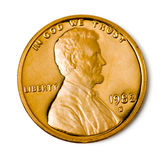 分uncirculated的硬币一理想 免版税库存图片