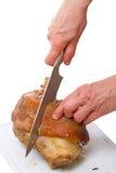 切与骨头的熟肉 免版税库存照片