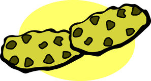 切削巧克力曲奇饼 免版税库存图片