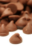切削巧克力 库存照片