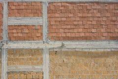 切削的石头的样式和砖墙纹理和背景 免版税库存图片