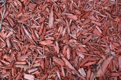 切削红色木头 图库摄影
