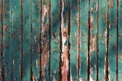 切削绿色老墙壁木头 免版税库存图片