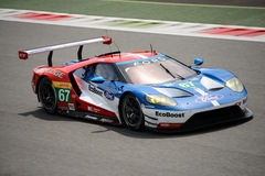 切削赛跑福特GT测试的Ganassi在蒙扎 图库摄影