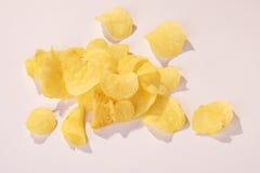 切削kartoffelchips potatoe 免版税库存图片