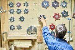 切割工具在木匠业方面 图库摄影