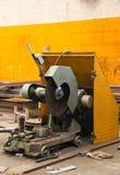 切割机在工厂 免版税图库摄影