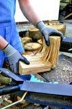 切割机木头 库存图片