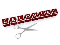 切口卡路里标志 免版税库存图片