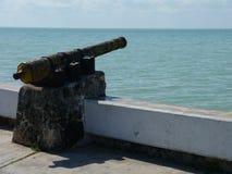 切图马尔墨西哥海滩夏天大炮纪念建筑学标志和地标 免版税图库摄影