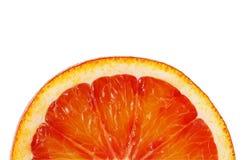 切在白色背景的红色橙色特写镜头这个裁减路线 免版税库存图片